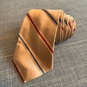 Yves Saint Laurent  YSL Gold Striped Men's Tie